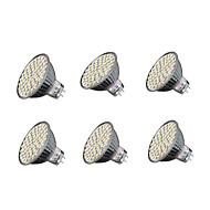 6 pcs GU5.3 5W 60*SMD3528 280LM 3000-3200K Warm/6000-6500K Cold White MR16 Spot Lights AC 220-240 V