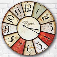 Modern/Comtemporary Obitelj Zidni sat,Krug Drvo 34*34*3cm Unutrašnji Sat