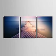 Canvas Set Maisema European Style,3 paneeli Kanvas Pystysuora Tulosta Art Wall Decor For Kodinsisustus