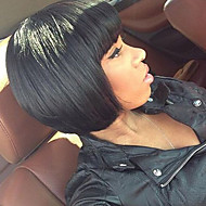 Brazilian Virgin Straight Human Hair Bob Wig Unprocessed Short Human Hair Wigs With Bang For Black Women