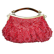 L.west Women Elegant High-grade Retro Beaded Evening Bag