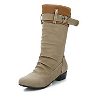Women's Boots Fall / Winter Fashion Boots / Combat Boots Office & Career / Dress / Casual Chunky Heel Buckle / Ruffles