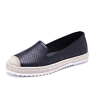 Women's Loafers & Slip-Ons Spring / Fall Moccasin / Round Toe Cowhide Outdoor / Casual Flat Heel female shoes