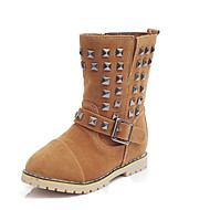 Boy's Boots Fall / Winter Snow Boots Linen Outdoor / Casual Flat Heel Slip-on Black / Brown Snow Boots