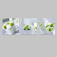 カジュアル / 写真 / 食品&飲料 / 愛国 / 現代風 / ロマンチック / ポップアート キャンバスプリント 3枚 ハングアップする準備ができました , 方形