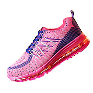Women's Sneakers Spring / Fall Comfort Fabric Athletic Flat Heel Lace-up Blue / Pink / Black and Red Walking / Sneaker