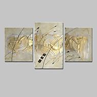Ζωγραφισμένα στο χέρι Αφηρημένο Φαντασία Οποιοδήποτε σχήμα,Μοντέρνα Τρίπτυχα Καραβόπανο Hang-ζωγραφισμένα ελαιογραφία For Αρχική