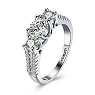 Midi gyűrűk Karikagyűrűk Vallomás gyűrűk Drágakő Ezüst Cirkonium Kocka cirkónia utánzat DiamondHip-Hop Hipoallergén Divat luxus ékszer