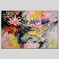 מצויר ביד פרחוני/בוטני ציורי שמן,מודרני / קלאסי / מסורתי / ריאליסטי / ים- תיכוני / פסטורלי / סגנון ארופאי פנל אחד בד ציור שמן צבוע-Hang