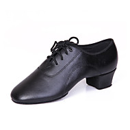 Non Customizable Men's Dance Shoes Leather Latin / Dance Sneakers Oxfords / Sneakers Chunky HeelPractice
