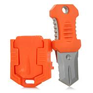 FURA Outdoor Portable Survival Knife with Strap & Tooth Edge Blade - Black / Green / Khaki / Orange