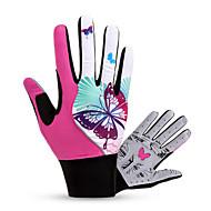 BATFOX® Luvas Esportivas Mulheres Luvas de Ciclismo Primavera / Outono Luvas para CiclismoMantenha Quente / Respirável / Á Prova-de-Vento
