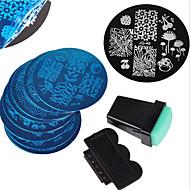 10PCS Nail Art Stamping Image Template Plates + 2 PCS Nail Art Stamping Printer