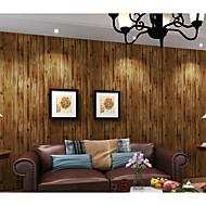 Art Deco / 3D / Madeira Papel de Parede Para Casa Clássico Revestimento de paredes , Tecido Não-Tecelado Material adesivo necessáriopapel