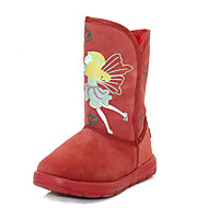Girl's Boots Fall / Winter Snow Boots Leather Outdoor / Casual Flat Heel Animal Print Brown / Pink / Red Walking