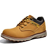 Men's Oxfords Spring / Summer / Fall / Winter Comfort Nappa Leather Outdoor / Athletic / Casual Black / Yellow / Taupe Sneaker