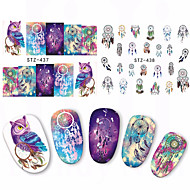 1 Nail Art Sticker Watertransfer decals Schattig make-up Cosmetische Nail Art Design