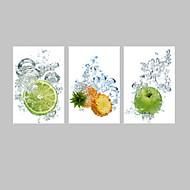抽象 / ファンタジー / カジュアル / 写真 / 食品&飲料 / 現代風 / ロマンチック / ポップアート キャンバスプリント 3枚 ハングアップする準備ができました , 縦式