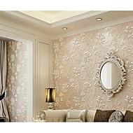 Цветочный принт 3D Обои Для дома Современный Облицовка стен , Нетканый материал материал Клей требуется обои , Обои для дома