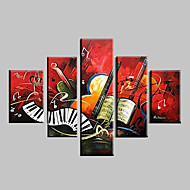 Hånd-malede Abstrakt Landskab Fantasi Abstrakt Landskab Alle Former,Moderne Fem Paneler Kanvas Hang-Painted Oliemaleri For Hjem Dekoration