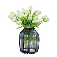 1 1 ענף פוליאסטר צבעונים פרחים לשולחן פרחים מלאכותיים 35cm