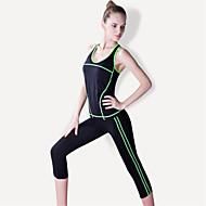 Ioga Moletom / Conjuntos de Roupas/Ternos Respirável / Secagem Rápida / Compressão / Confortável Elasticidade Alta Wear Sports Mulheres-