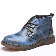 Unissex-Oxfords-Outro-Rasteiro-Preto Azul Marrom Cinza-Pele Napa-Para Esporte