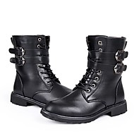 Men's Boots Fall / Winter Work & Safety / Round Toe PU Outdoor / Office & Career / Casual Flat Heel Others Black Others
