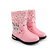 Girl's Boots Spring / Fall Combat Boots Synthetic Casual Flat Heel Zipper Pink / Red Others