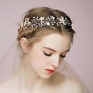 Mulheres Strass Liga Capacete-Casamento Ocasião Especial Casual Ao ar LivreBandanas Pentes de Cabelo Flores Cabelo da vara Acessórios
