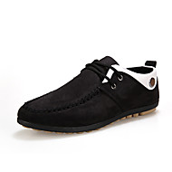 Men's Sneakers Spring / Fall Moccasin Canvas Casual Flat Heel Others / Lace-up Black / Blue / Yellow Others