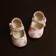 Girl's Flats Fall Flats PU Casual Flat Heel Bowknot / Pearl / Magic Tape Pink Others
