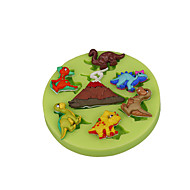 Volcano Dinosaur Silicone Mould Fondant Cup Cake Decoration Sugarcraft Tools Polymer Clay Fimo Chocolate Candy Making