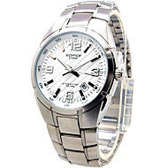 Men's Dress Watch Fashion Watch / Quartz Stainless Steel Band Casual Silver