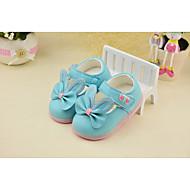 Jente Baby Flate sko Komfort PU Høst Avslappet Komfort Sløyfe Flat hæl Hvit Blå Under 2,5 cm
