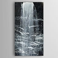 Oil Painting Waterfall Landscape Hand Painted Canvas Painting with Stretched Framed Ready to Hang
