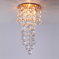 3W Contemporary Gold Feature Mini Style Crystal Pendant Lights for Dining Room