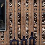 Stribe Tapet til Hjemmet Moderne Tapetsering , PVC/Vinyl Materiale selvklebende nødvendig bakgrunns , Tapet