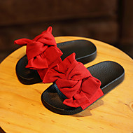 Girl's Slippers & Flip-Flops Summer Cotton Casual Flat Heel Flower Black Green Pink Red Other