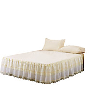 Betterhome Princess Lace Bedspread Bed Skirt Mattress Dust Protection Cover Bedding Set