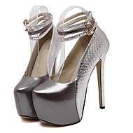 Homme-Décontracté-Rouge / Argent-Talon Aiguille-Confort-Chaussures à Talons-Similicuir