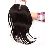 16Inch Handtied Staight Lace Closure Unprocessed Hair Remy Human Hair 4*4Swiss Lace