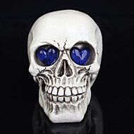 1pc Halloween Dekorationen Neuheit Augen Schädel Spielzeug Harz glühenden Geist ein Nachtlicht