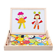 Jigsaw Puzzles Educational Toy Building Blocks DIY Toys Square Wood Beige Leisure Hobby