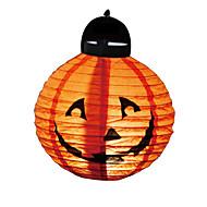 1 Stück Halloween-Dekoration führte Papierkürbislicht hängende Laterne Lampe Halloween-Stützen im Freien Partei liefert