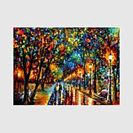Ručno oslikana Pejzaž / Ljudi / Cvjetni / Botanički ulja na platnu,Moderna Jedna ploha Platno Hang oslikana uljanim bojama For Početna