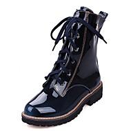 Korkokengät-Matala korko Platform-Naisten-Synteettinen Kiiltonahka Tekonahka-Musta Sininen Ruskea-Häät Toimisto Work & Safety Puku Rento