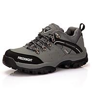 Men's Sneakers Comfort Leather Fall Outdoor Hiking Comfort Lace-up Wedge Heel Gray Green Khaki 1in-1 3/4in