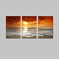 VISUAL STAR®Sunrise Stretched Canvas Printing 3 Pannel Wall Decor Canvas Art Ready to Hang