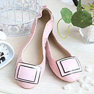 Women's Flats Fall Comfort Leather Casual Flat Heel Others Pink Almond Others